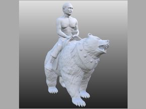 Putin On Bear  in White Strong & Flexible