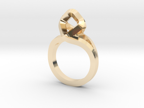 Sharp Rhythm Ring, us size 5 ,d=15,5 mm in 14K Yellow Gold: 5 / 49