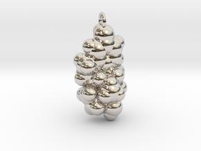 Estrogen CPK With Ring in Rhodium Plated Brass