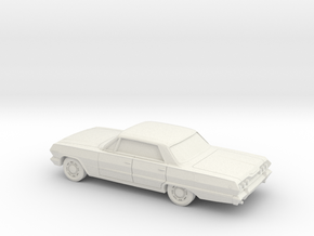 1/87 1963 Chevrolet Impala Sedan in White Natural Versatile Plastic