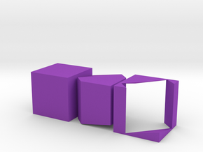Prince Rupert's Cube in Purple Strong & Flexible Polished