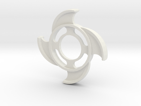 4a Point Spinner in White Natural Versatile Plastic