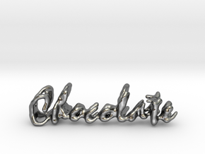 Chocolate Chocolate Necklace in Fine Detail Polished Silver