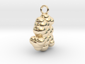 Caffeine CPK With Ring in 14k Gold Plated Brass