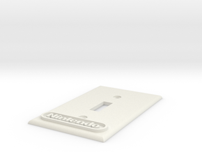 Nintendo Switch plate cover in White Strong & Flexible