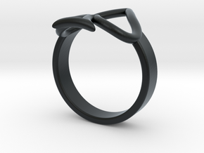 Simple Ace Ring in Black Hi-Def Acrylate: 4 / 46.5