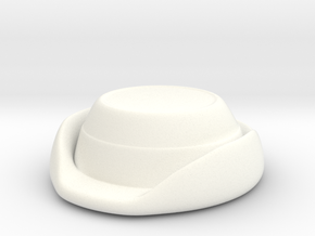 Wrens Hat in White Processed Versatile Plastic