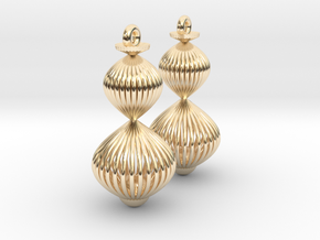 Spiral Earring Pair in 14k Gold Plated
