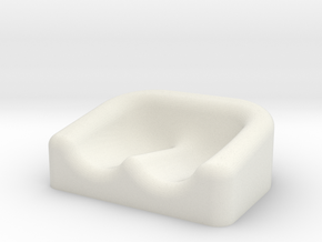 Earplug Dish 01 in White Natural Versatile Plastic