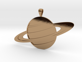Saturn in Polished Brass