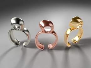 Noodle ring in 18k Gold Plated