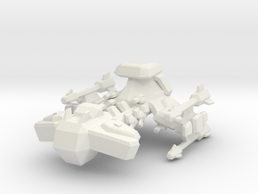 1/15000 Terran Battle Cruiser  in White Natural Versatile Plastic
