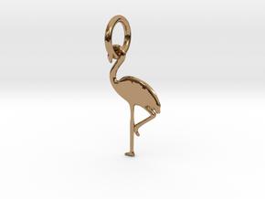 Flamingo Bird Pendant in Polished Brass