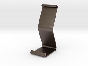 Ipad Stand V1 in Polished Bronzed Silver Steel