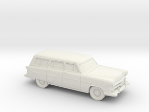 1/87 1952 Ford Crestline Station Wagon in White Strong & Flexible