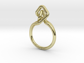A-LINE Dancing D.02,US size 5.5, d=16mm in 18k Gold Plated Brass: 5.5 / 50.25