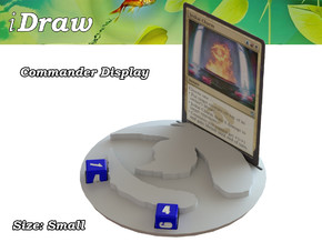Commander Display Jeskai in White Natural Versatile Plastic: Small