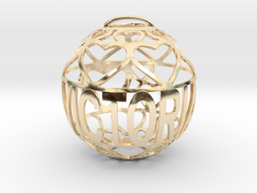 Victoria Lovaball in 14k Gold Plated Brass