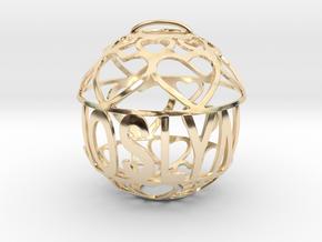 Joslyn Lovaball in 14k Gold Plated Brass