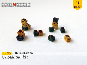 16 Bierkästen (TT 1:120) in Smooth Fine Detail Plastic