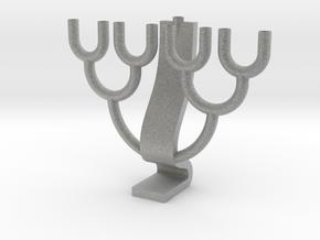 Binary Tree Menorah in Metallic Plastic