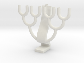 Binary Tree Menorah in White Natural Versatile Plastic