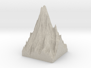 Model of Mount Rainier in Natural Sandstone