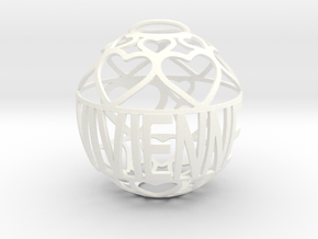 Vivienne Lovaball in White Processed Versatile Plastic
