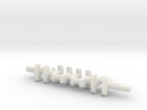 ScaledEngines_B18-crankshaft in White Natural Versatile Plastic