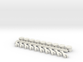 ScaledEngines_Pistons & Rods in White Strong & Flexible