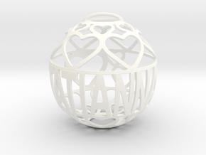Tatianna Lovaball in White Processed Versatile Plastic