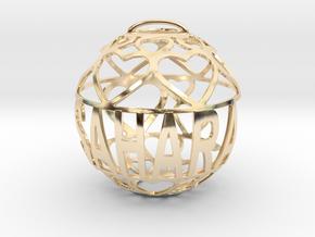Sahara Lovaball in 14k Gold Plated Brass