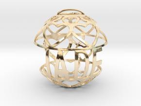 Jade Lovaball in 14k Gold Plated Brass