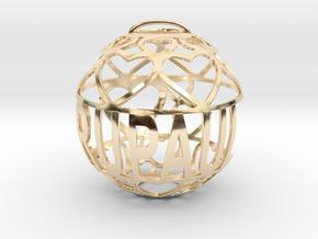 RuPaul Lovaball in 14k Gold Plated Brass