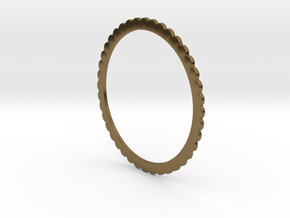 Ingranaggi Bangle - 2mm Thick in Polished Bronze
