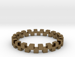 Cuboid Ring, US size 12.5, d=21.8mm(all sizes on d in Natural Bronze: 12.5 / 67.75