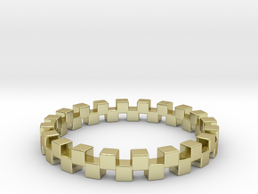 Cuboid Ring, US size 12.5, d=21.8mm(all sizes on d in 18k Gold Plated Brass: 12.5 / 67.75