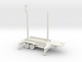 1/110 Scale Patriot Missile Communication Trailer in White Strong & Flexible