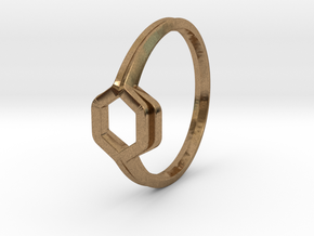 Honey Duo, Ring US size 8, d=18,2mm  in Natural Brass: 8 / 56.75
