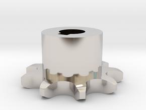 Pignone Per Catena Semplice ISO 04B-1 P6 Z9 in Rhodium Plated Brass