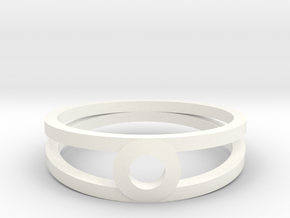 """""""K Line""""  K3 Ring, US size 8, d=18,2mm(all sizes o in White Processed Versatile Plastic: 8 / 56.75"""