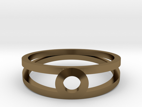"""""""K Line""""  K3 Ring, US size 8, d=18,2mm(all sizes o in Polished Bronze: 8 / 56.75"""