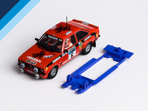1/32 SCX Ford Escort RS1800 Chassis Slot.it pod in Blue Processed Versatile Plastic
