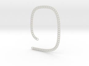 Curb chain necklace 21 inch 8 mm  in White Natural Versatile Plastic