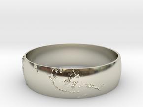 Earth Bracelet in 14k White Gold