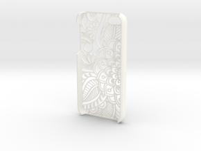 "Iphone ""SE"" Case - Flower in White Strong & Flexible Polished"