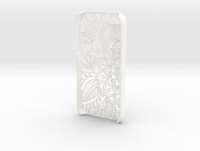"""Iphone """"SE"""" Case - Flower in White Processed Versatile Plastic"""