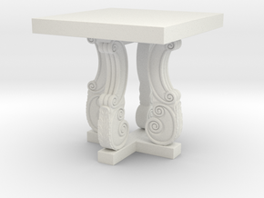 Decorative French Side Table in White Strong & Flexible: 1:48