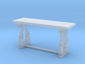 Decorative French Console Table in Smooth Fine Detail Plastic: 1:24