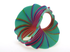 Hyperbole 03 Color Sculpture in Glossy Full Color Sandstone
